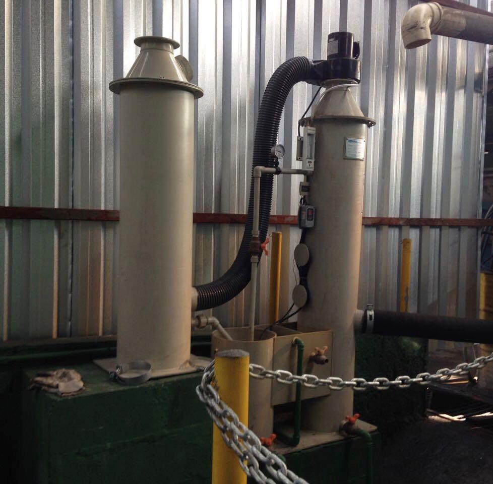 Sobre lavador de gases